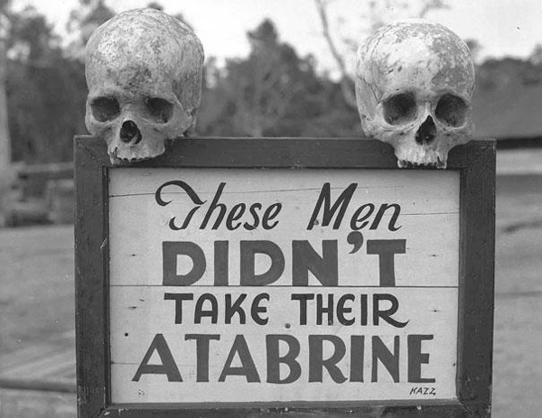 Advertisement-for-Atabrine-anti-malaria-drug-in-Papua-New-Guinea-during-WWII