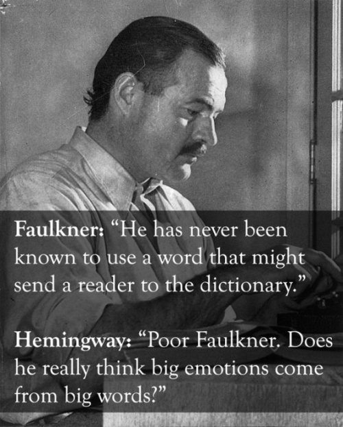 hemingway and faulkner quote