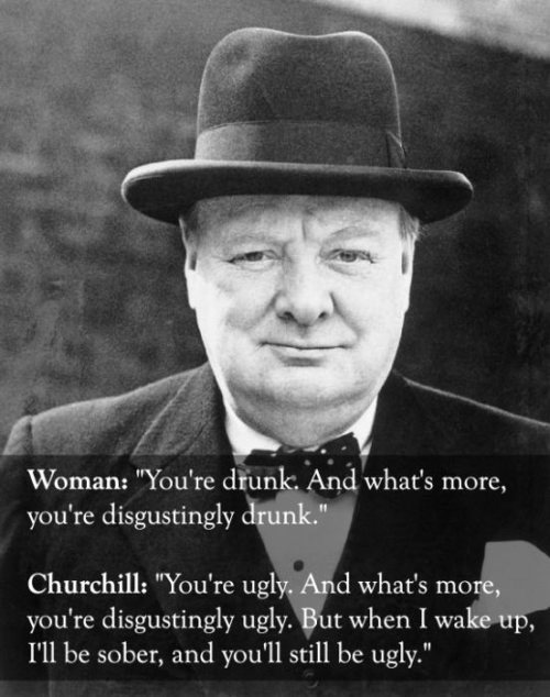 churchill on being drunk