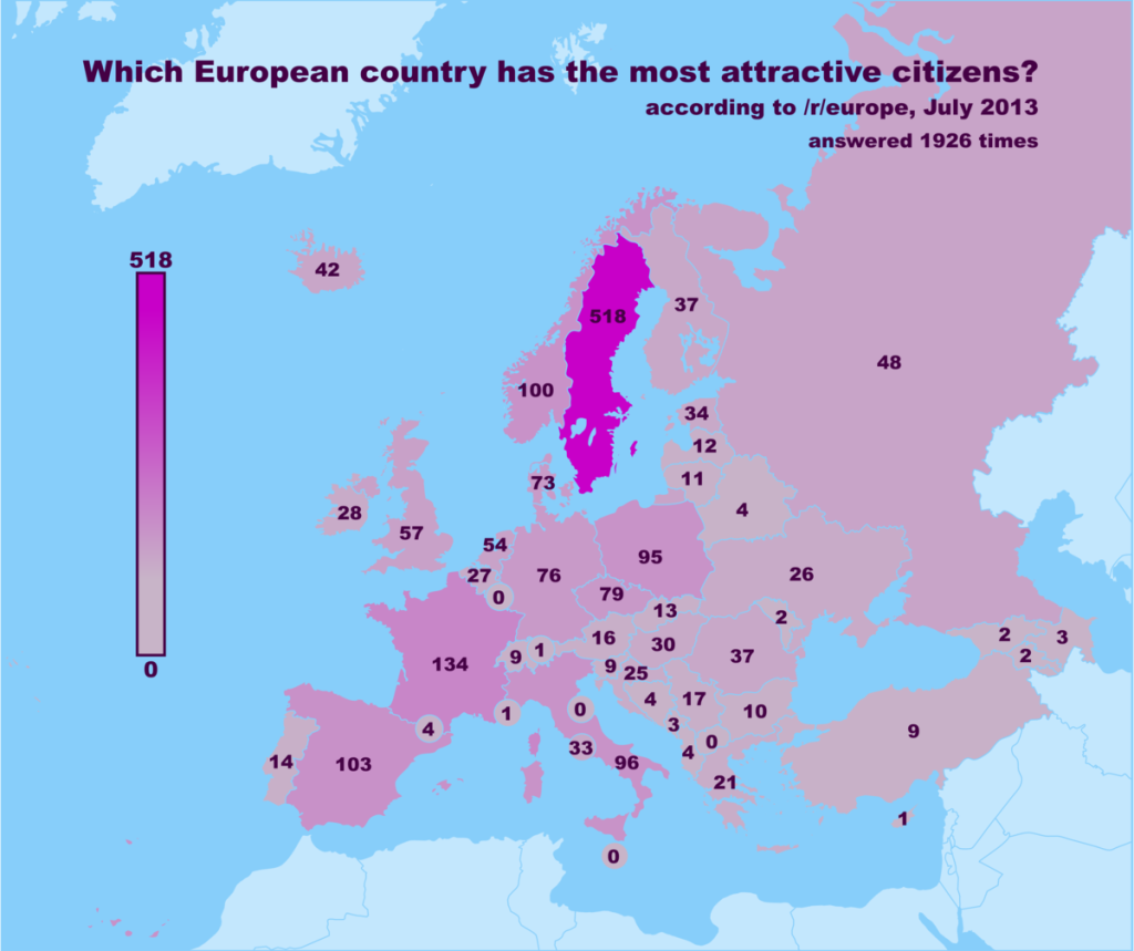Which European Country Has The Most Attractive Citizens?