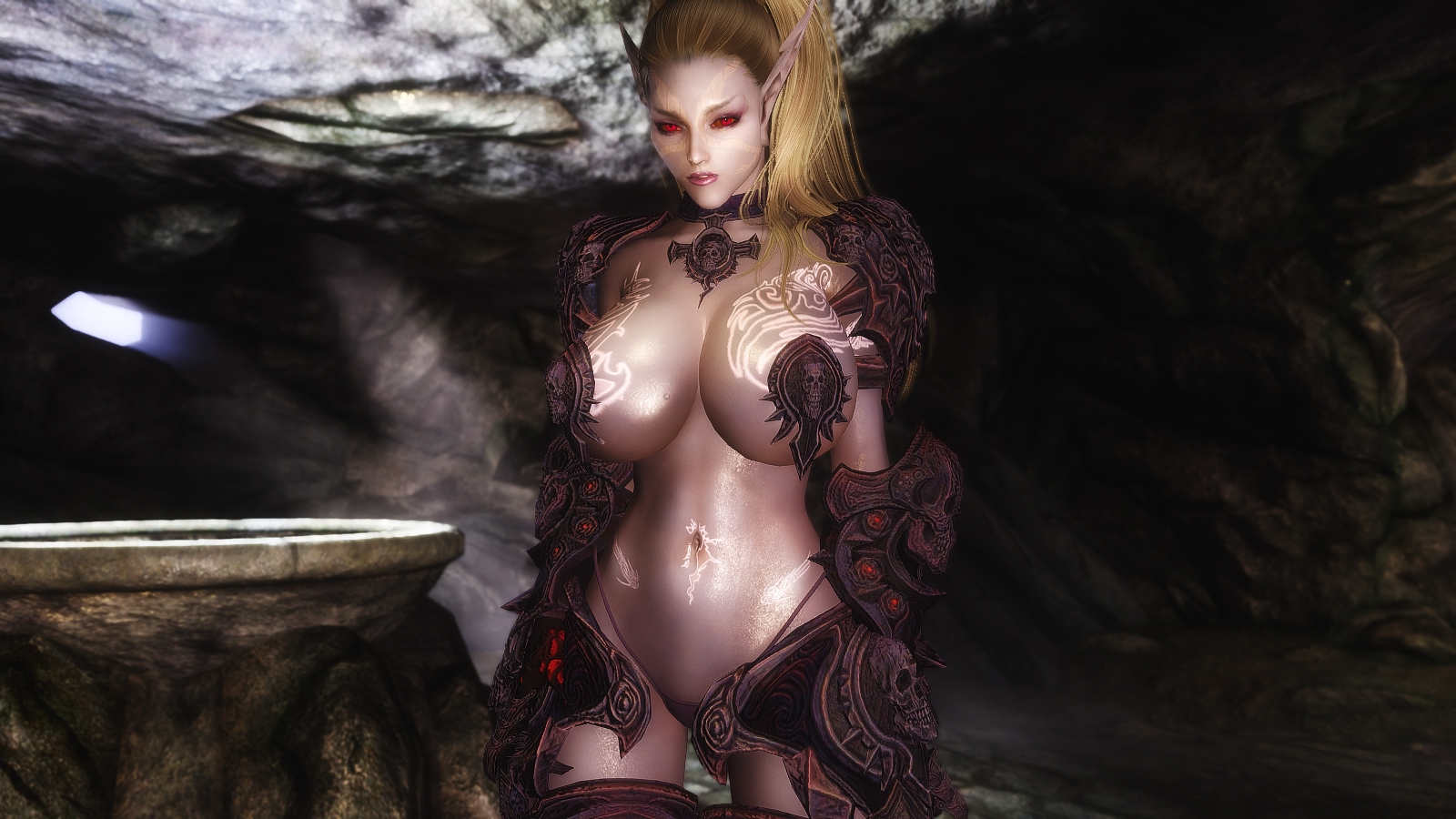 Sexy dark elf female nude erotic gallery