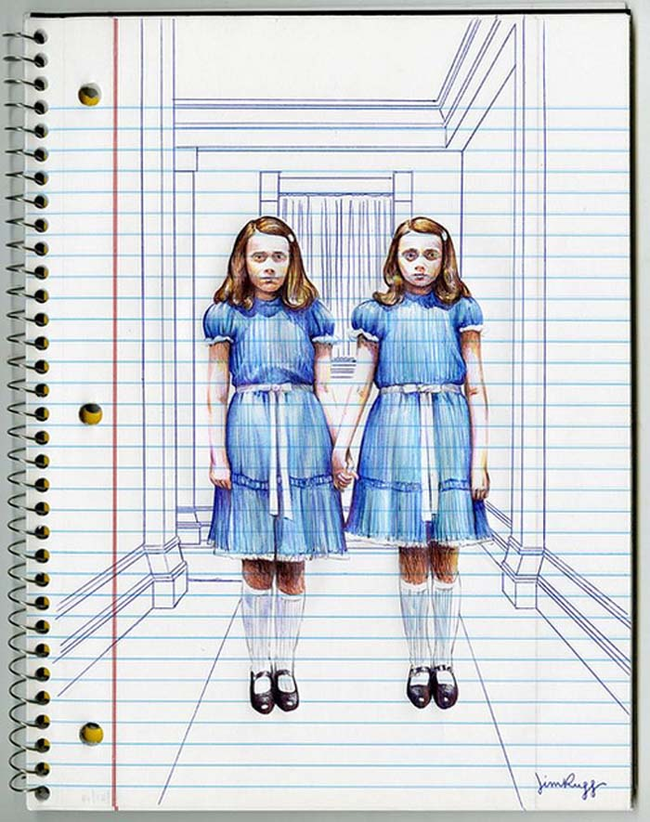 twins-from-the-shining-ballpoint-pen