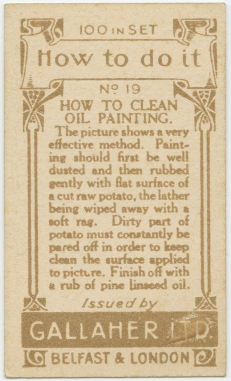 How to clean an oil painting-text