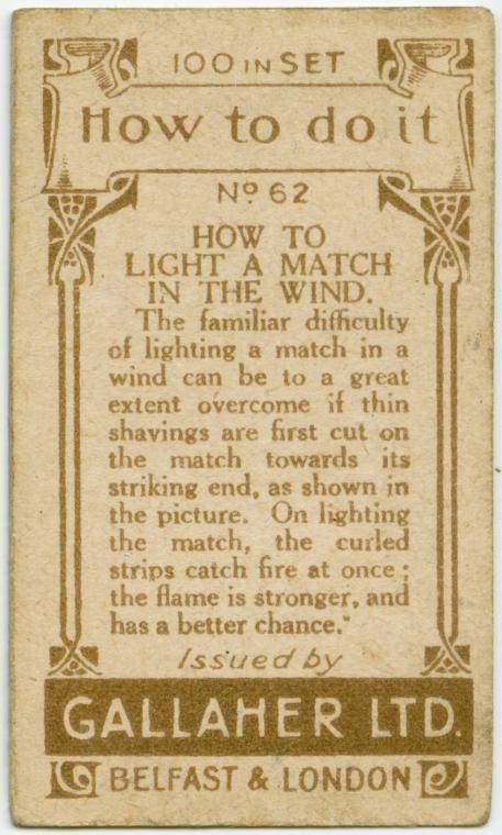How to light a match in the wind-text