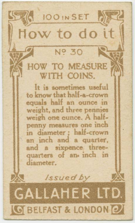 How to measure with coins-text