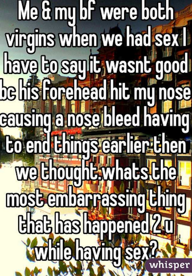 nose bleed while having sex