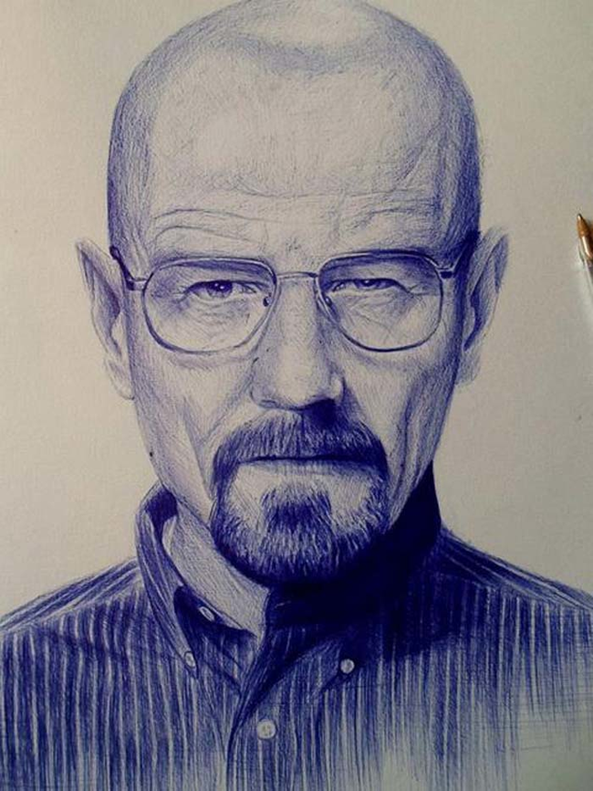 ballpoint pen art from Breaking Bad