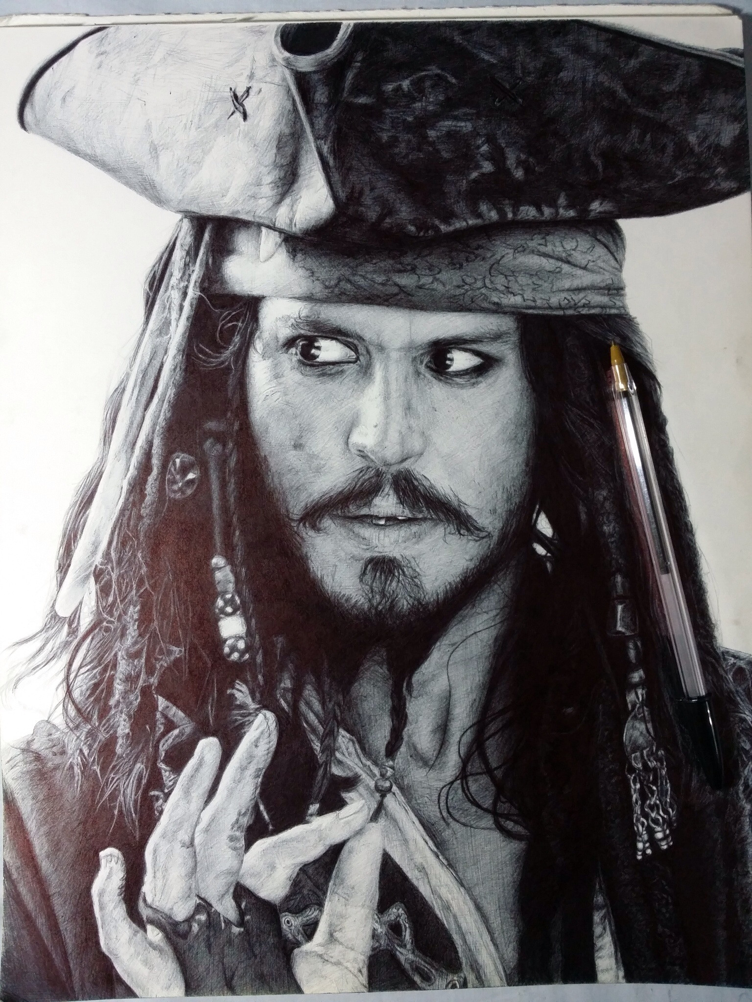 johnny-depp-ballpoint-pen-artwork