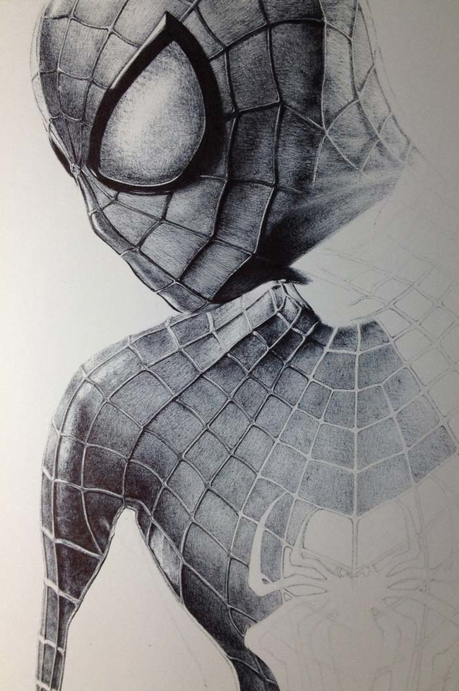 spiderman-in-ballpointpen