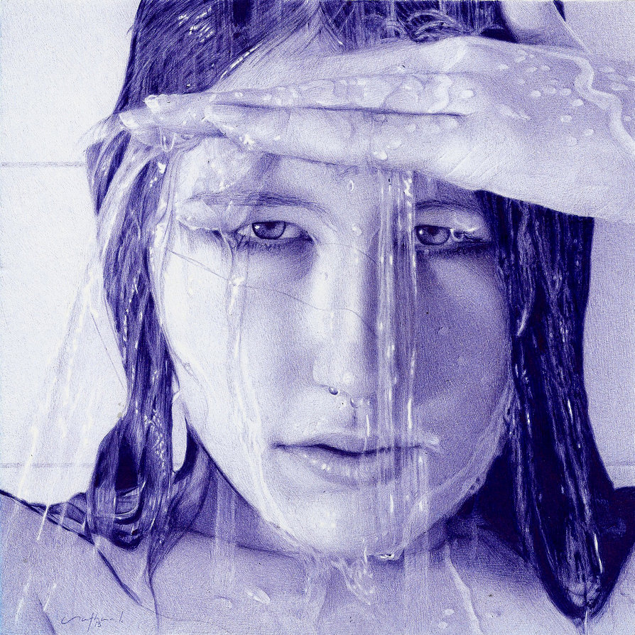 through_the_veil___ballpoint_pen_artwork