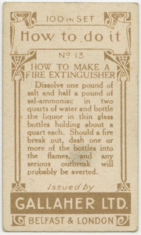How to make a fire extinguisher-text