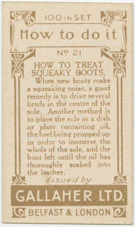 How to treat squeaky boots-text